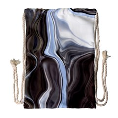 Metallic And Chrome Drawstring Bag (large)