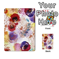 Watercolor Spring Flowers Background Multi-purpose Cards (Rectangle)