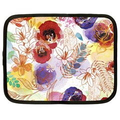 Watercolor Spring Flowers Background Netbook Case (XXL)