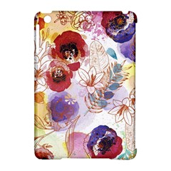 Watercolor Spring Flowers Background Apple iPad Mini Hardshell Case (Compatible with Smart Cover)
