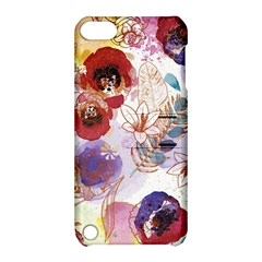 Watercolor Spring Flowers Background Apple iPod Touch 5 Hardshell Case with Stand
