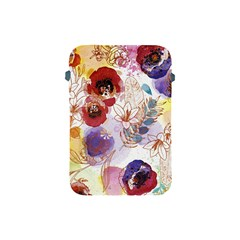 Watercolor Spring Flowers Background Apple iPad Mini Protective Soft Cases