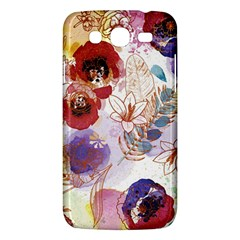Watercolor Spring Flowers Background Samsung Galaxy Mega 5.8 I9152 Hardshell Case