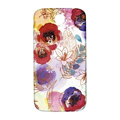 Watercolor Spring Flowers Background Samsung Galaxy S4 I9500/I9505  Hardshell Back Case