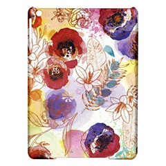 Watercolor Spring Flowers Background iPad Air Hardshell Cases