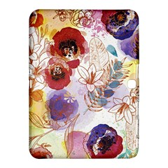 Watercolor Spring Flowers Background Samsung Galaxy Tab 4 (10.1 ) Hardshell Case