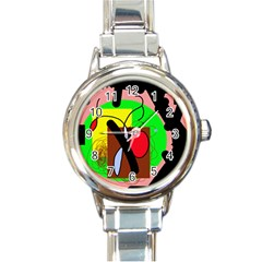 Fantasy  Round Italian Charm Watch