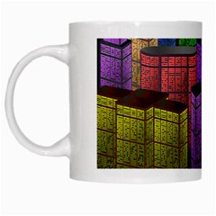 City Metropolis Sea Of Light White Mugs