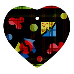 Playful day Ornament (Heart)