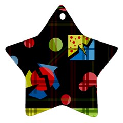 Playful day Ornament (Star)