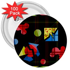 Playful day 3  Buttons (100 pack)