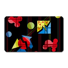 Playful day Magnet (Rectangular)