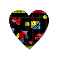 Playful day Heart Magnet
