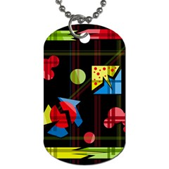 Playful day Dog Tag (One Side)