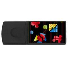 Playful day USB Flash Drive Rectangular (2 GB)