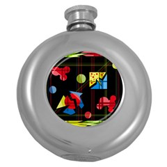 Playful day Round Hip Flask (5 oz)