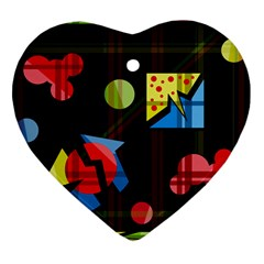 Playful day Heart Ornament (2 Sides)
