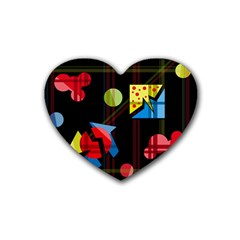 Playful day Heart Coaster (4 pack)