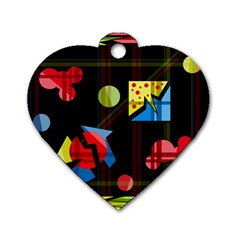 Playful day Dog Tag Heart (Two Sides)