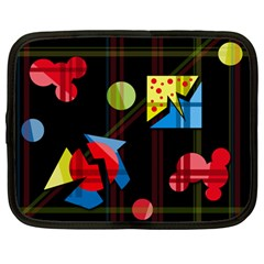 Playful day Netbook Case (Large)