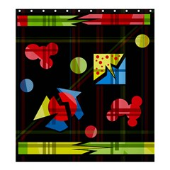 Playful day Shower Curtain 66  x 72  (Large)