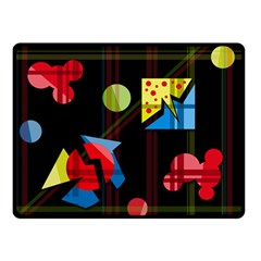 Playful day Double Sided Fleece Blanket (Small)