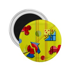Playful day - yellow  2.25  Magnets