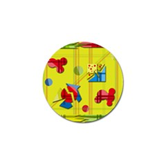 Playful day - yellow  Golf Ball Marker (4 pack)