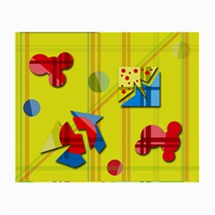 Playful day - yellow  Small Glasses Cloth