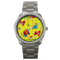 Playful day - yellow  Sport Metal Watch