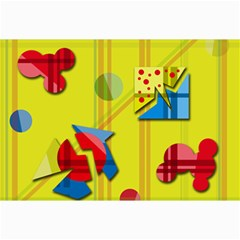 Playful day - yellow  Collage Prints