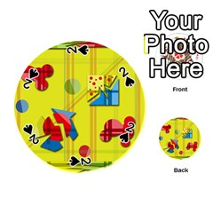Playful day - yellow  Playing Cards 54 (Round)