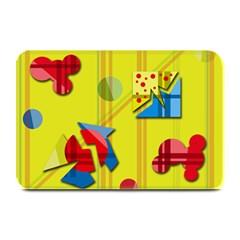 Playful day - yellow  Plate Mats