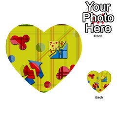 Playful day - yellow  Multi-purpose Cards (Heart)