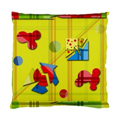 Playful day - yellow  Standard Cushion Case (One Side)