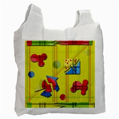 Playful day - yellow  Recycle Bag (Two Side)