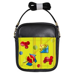 Playful day - yellow  Girls Sling Bags