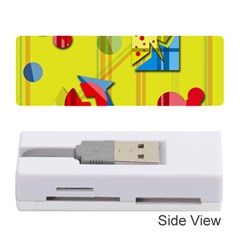 Playful day - yellow  Memory Card Reader (Stick)
