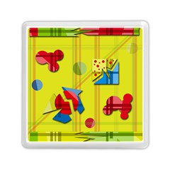 Playful day - yellow  Memory Card Reader (Square)