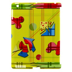 Playful day - yellow  Apple iPad 3/4 Hardshell Case (Compatible with Smart Cover)