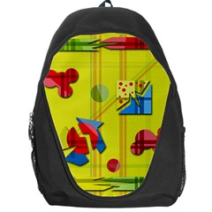 Playful day - yellow  Backpack Bag
