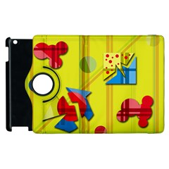 Playful day - yellow  Apple iPad 3/4 Flip 360 Case