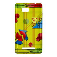 Playful day - yellow  HTC One SU T528W Hardshell Case