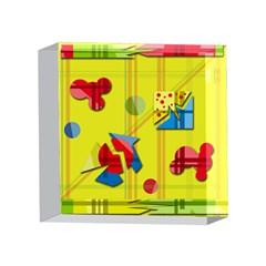 Playful day - yellow  4 x 4  Acrylic Photo Blocks