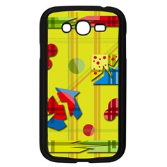 Playful day - yellow  Samsung Galaxy Grand DUOS I9082 Case (Black)