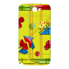 Playful day - yellow  Samsung Note 2 N7100 Hardshell Back Case