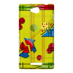Playful day - yellow  Sony Xperia C (S39H)