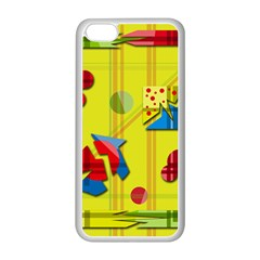 Playful Day   Yellow  Apple Iphone 5c Seamless Case (white)