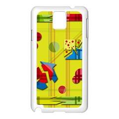 Playful day - yellow  Samsung Galaxy Note 3 N9005 Case (White)
