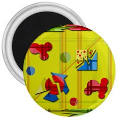 Playful day - yellow  3  Magnets